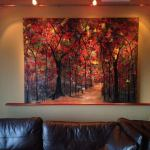 """Deep in the Forest"" Giclee shown in the Diehl residence in their College Park home"