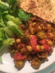 indian okra final dish