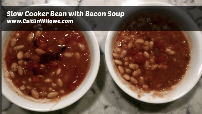 Slow Cooker Bean with Bacon Soup (plus a vegan option!)