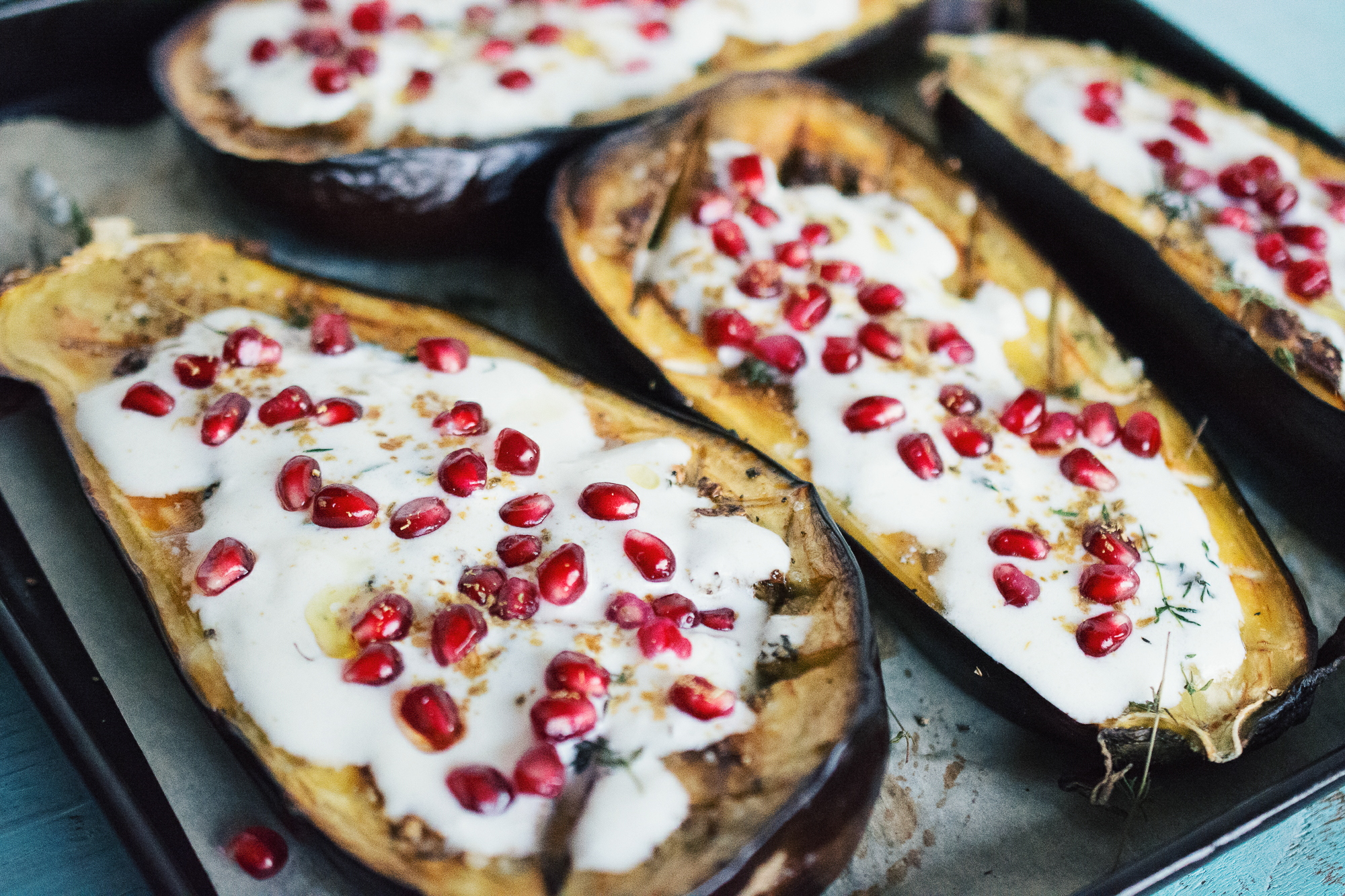 Ottolenghi's Eggplant with Buttermilk Sauce - The Food Gays