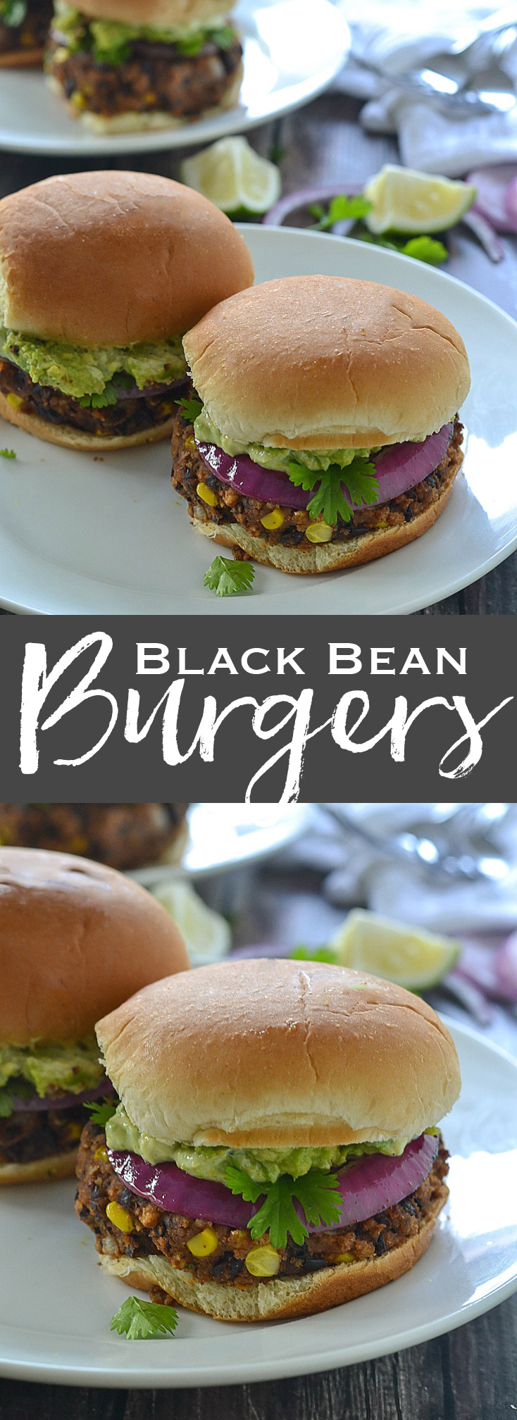 Black Bean Sliders/Burgers topped with a creamy avocado mayonnaise- www.motherthyme.com