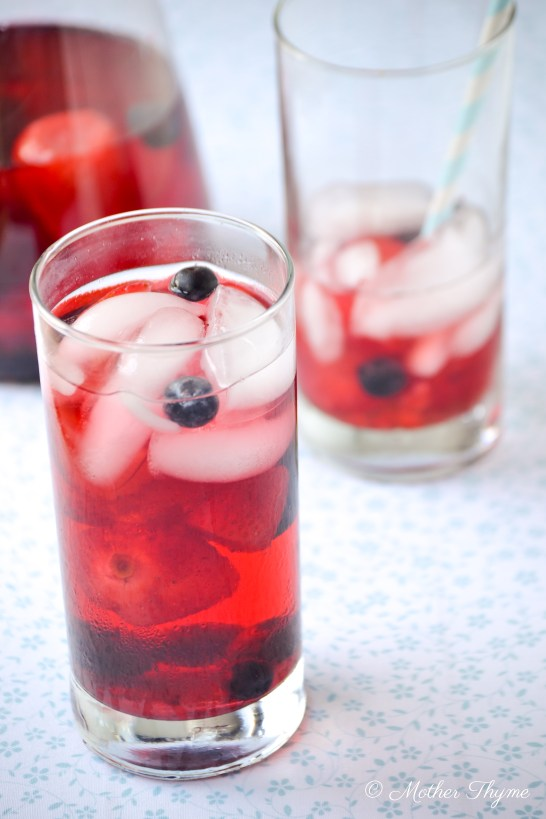 Sparkling Hibiscus Sangria Tea Cooler | Mother Thyme