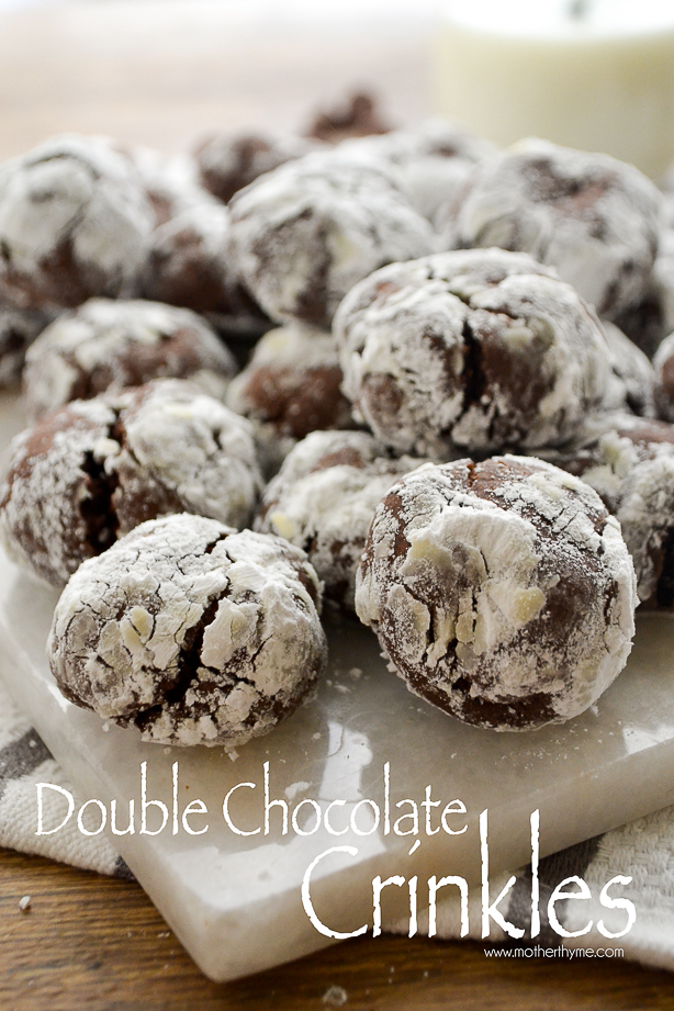Double Chocolate Crinkles | www.motherthyme.com