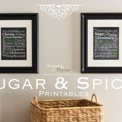 {Introducing Sugar & Thyme} Sugar & Spice Printables