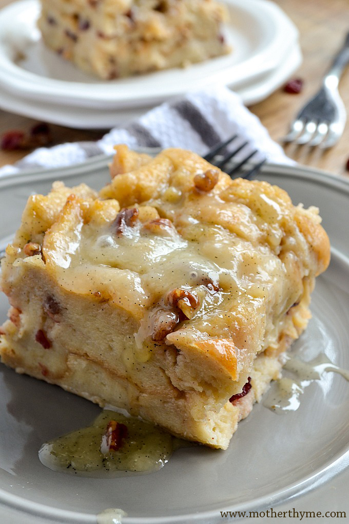 Bread Pudding with Vanilla Bean Sauce | Mother Thyme