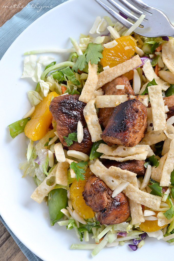Asian Sesame Chopped Chicken Salad | Mother Thyme