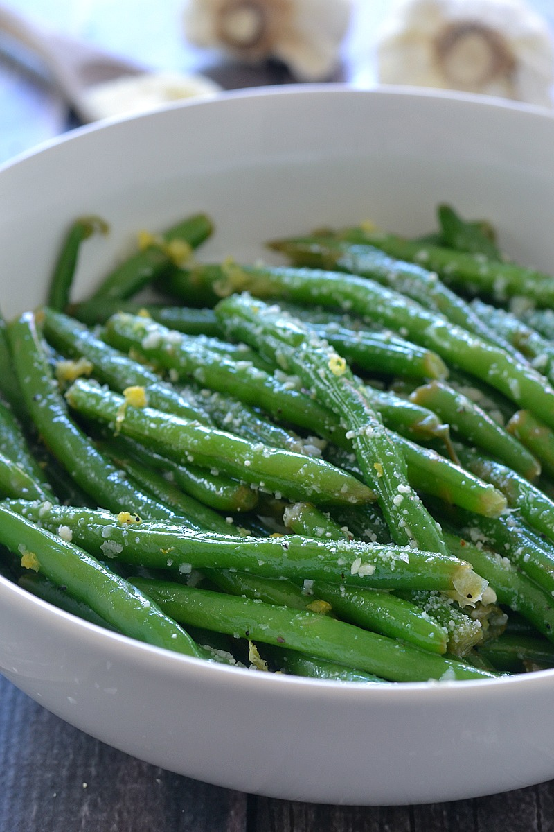 Lemon Butter Green Beans with Garlic and Parmesan | www.motherthyme ...