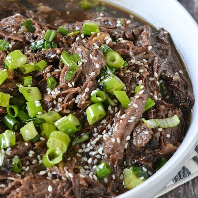 Crock-Pot® Slow Cooker Asian Style Shredded Beef