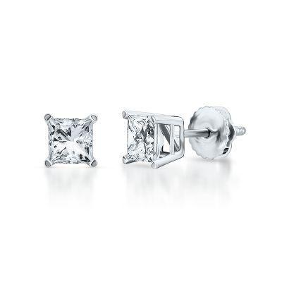 Diamonds - 1 Cart TW Diamond Stud Earrings-