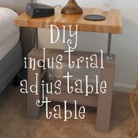 DIY Industrial adjustable bedside tables - The DIY Girl