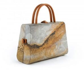 sac à main feuille de pierre