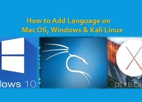 how to change language on mac os