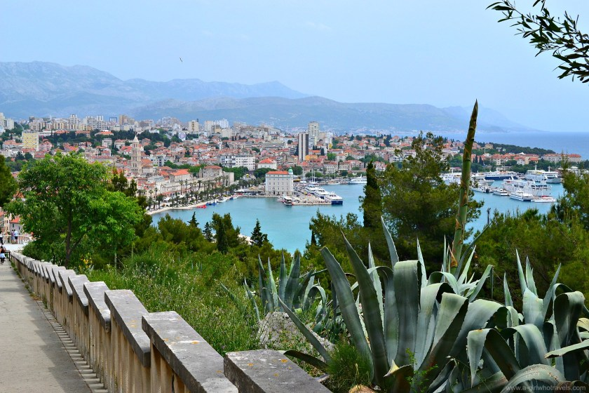 view from Marjan Hill, split, Croatia