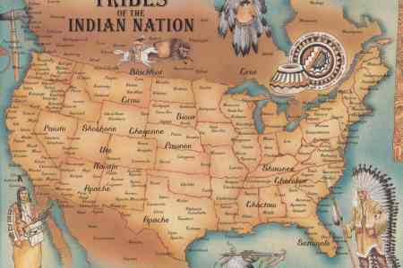north american indians map