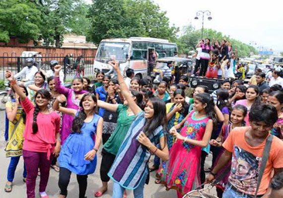 Rajasthan: ABVP dominates in student union polls,Setback for NSUI