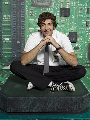Zachary Levi as Chuck Bartowski, probably not the best example of this rule, but cute enough to let it slide.