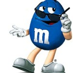 The Blue M&M.