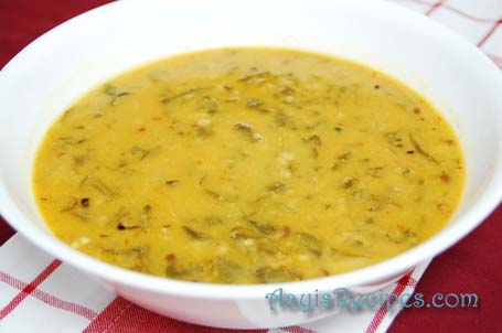Curry with greens (Vali bhajji Ambat)