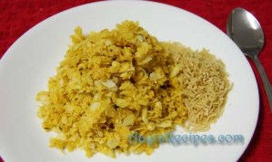 Poha with cumins (Jeere kalayile phovu)