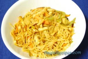 Vegetable and noodle stir fry