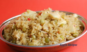 Dried Green Peas Pulav