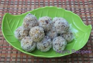 Dates – Puffed Rice Laddoo (Khajoor – Phulayil Phova Laddoo)