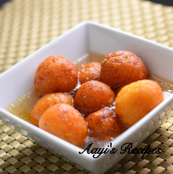 Paneer - Sweet Potato Gulab Jamun