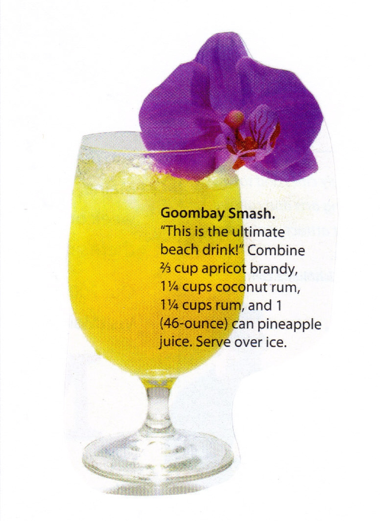recipes goombay smash the goombay smash a tropical goombay smash dark ...