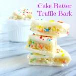 Cake Batter Truffle Bark