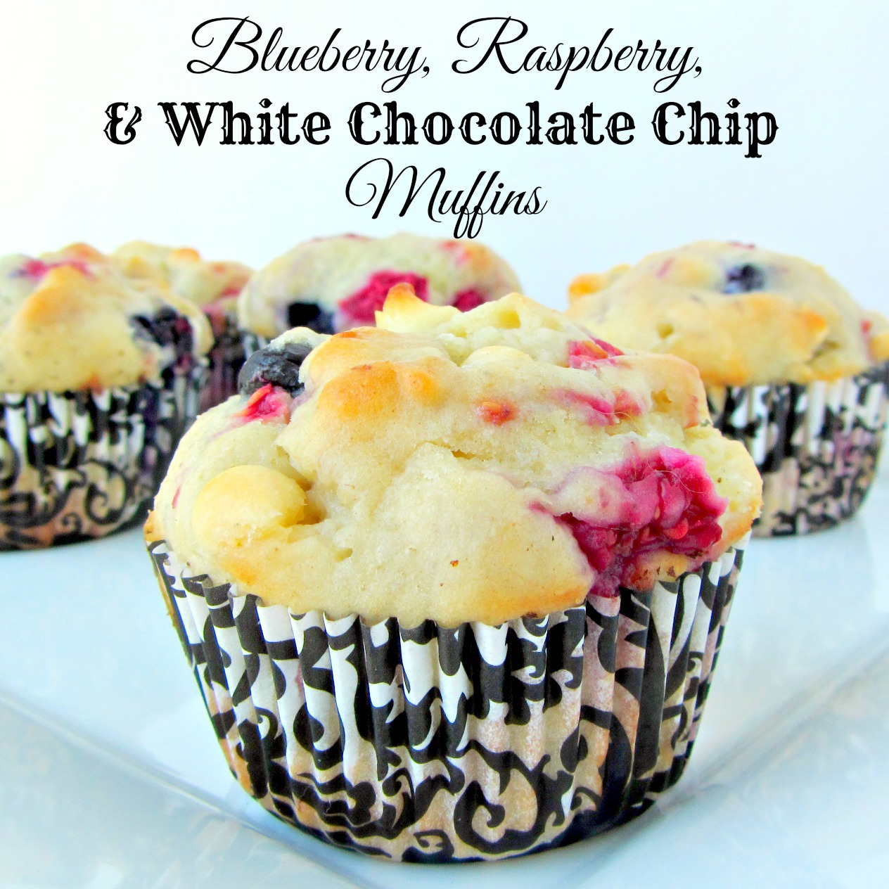 Blueberry, Raspberry & White Chocolate Chip Muffins - A baJillian ...