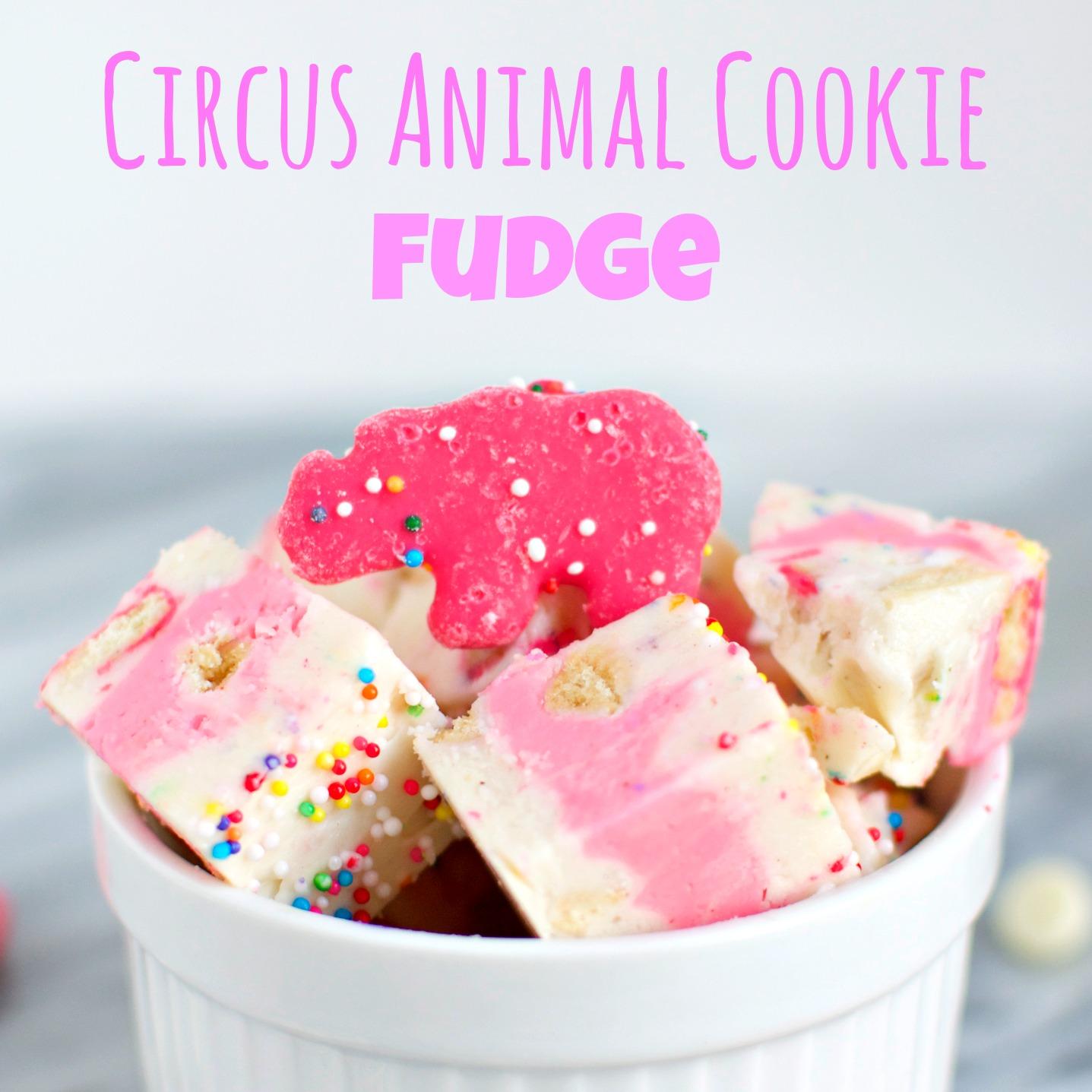 Circus Animal Cookie Fudge - A baJillian Recipes
