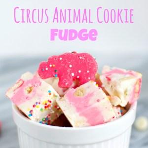 Circus Animal Cookie Fudge