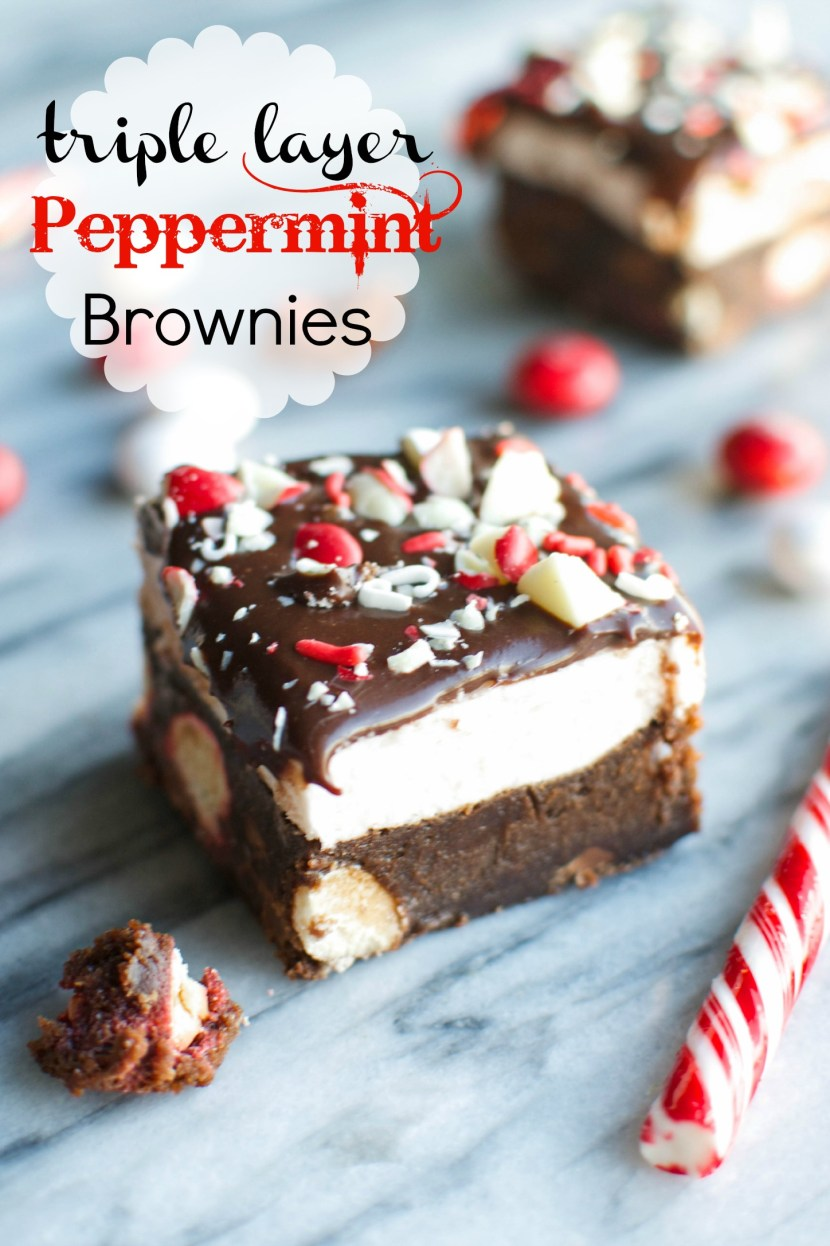 fudgiest chocolate brownie, studded with white chocolate peppermint ...