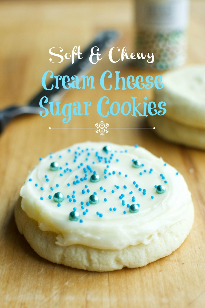 Soft & Chewy Cream Cheese Sugar Cookies | A bajillion Recipes
