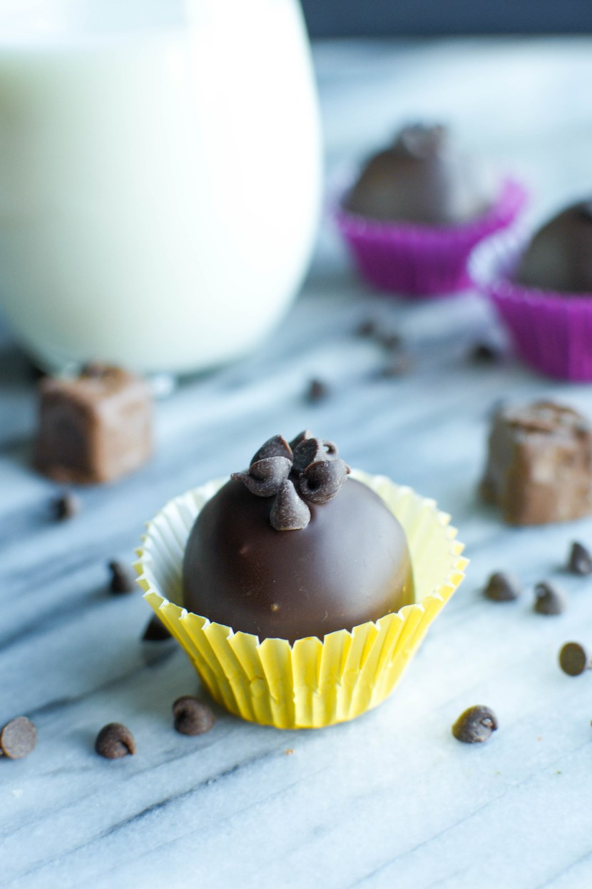 Snickers Stuffed Brownie Truffles | A baJillian Recipes
