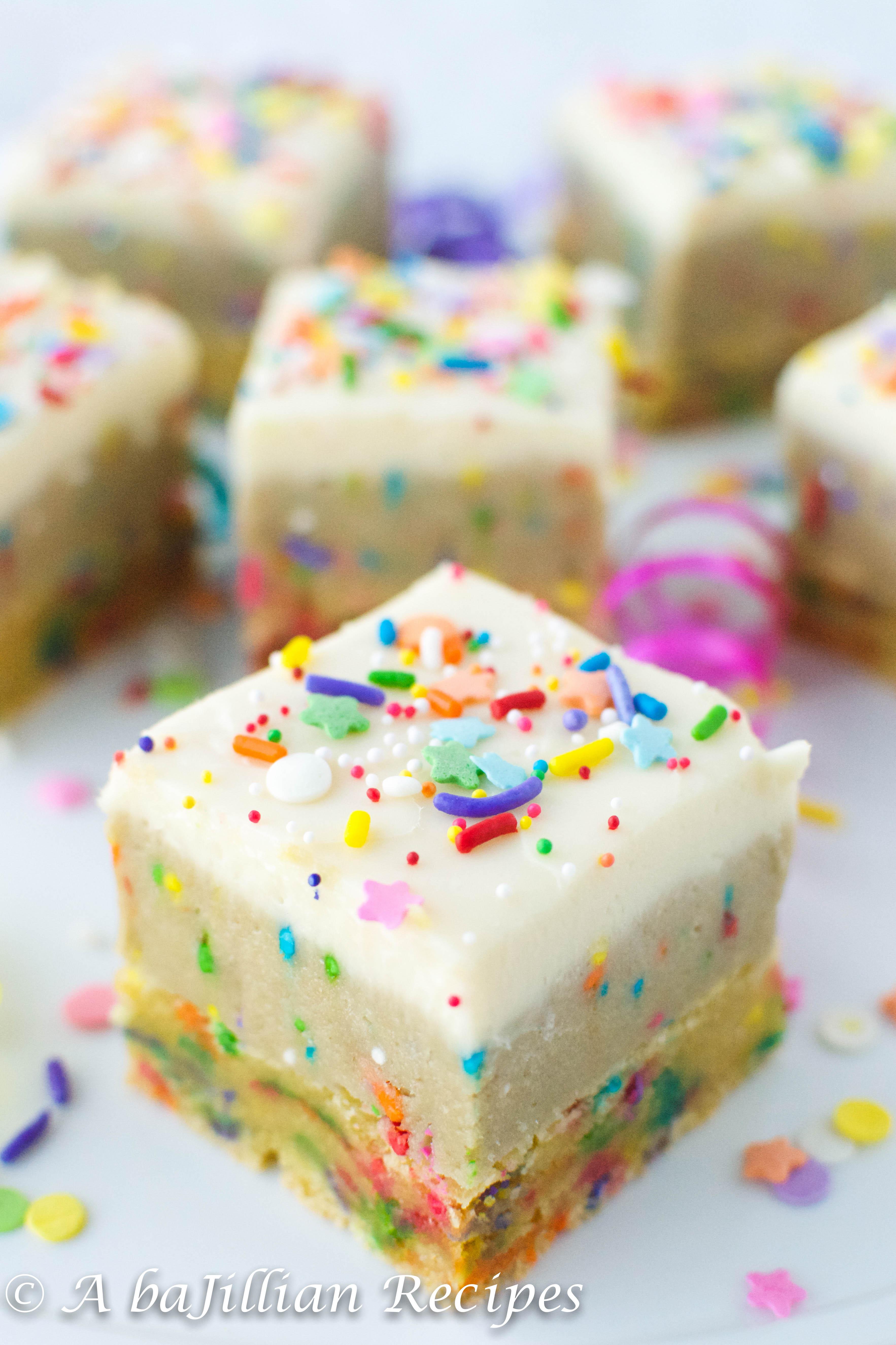 Birthday Cake Oreo Truffle Blondies  A baJillian Recipes