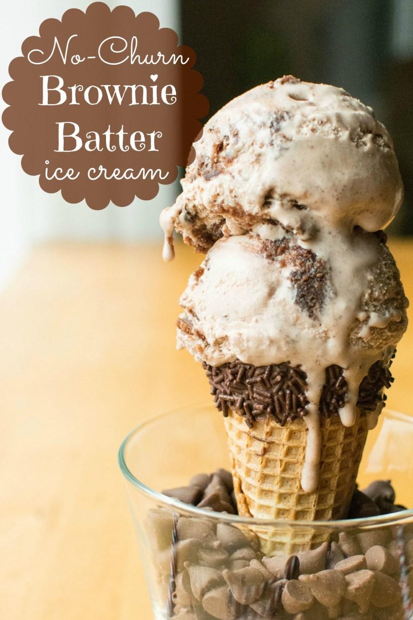 No-Churn Brownie Batter Ice Cream   A baJillian Recipes