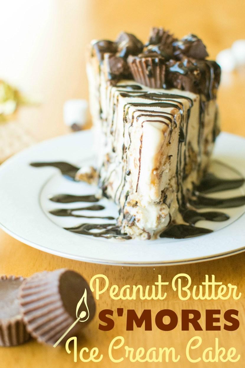 Peanut Butter S'mores Ice Cream Cake | A baJillian Recipes
