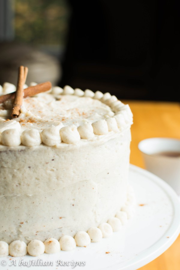 Apple Layer Cake with Vanilla Chai-Spiced Buttercream | A baJillian Recipes
