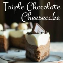 Triple Chocolate Cheesecake | A baJillian Recipes