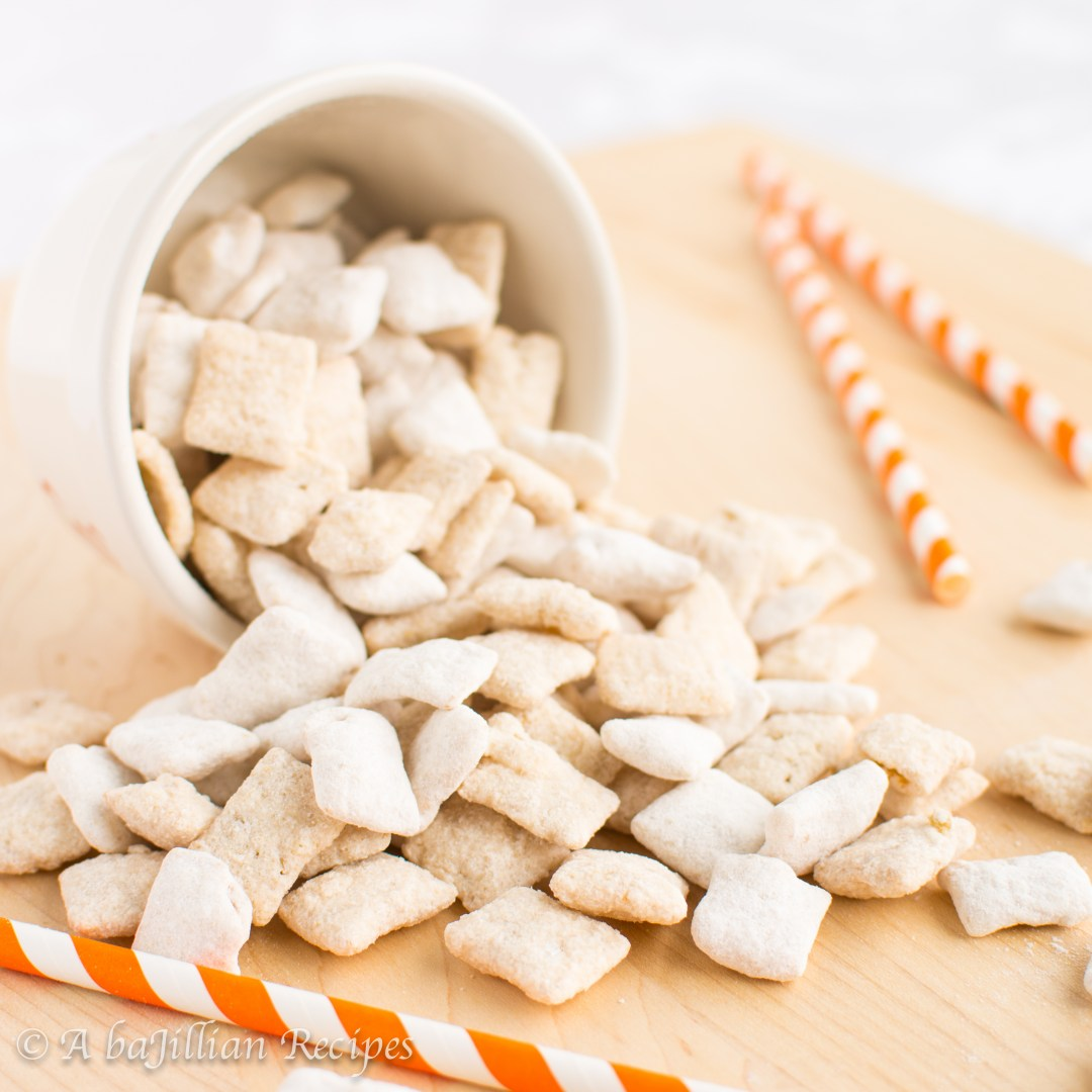 An orange creamsicle in puppy chow form!
