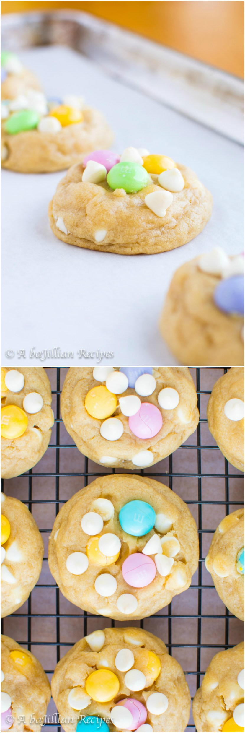 White Chocolate M&M Cookies | A baJillian Recipes2