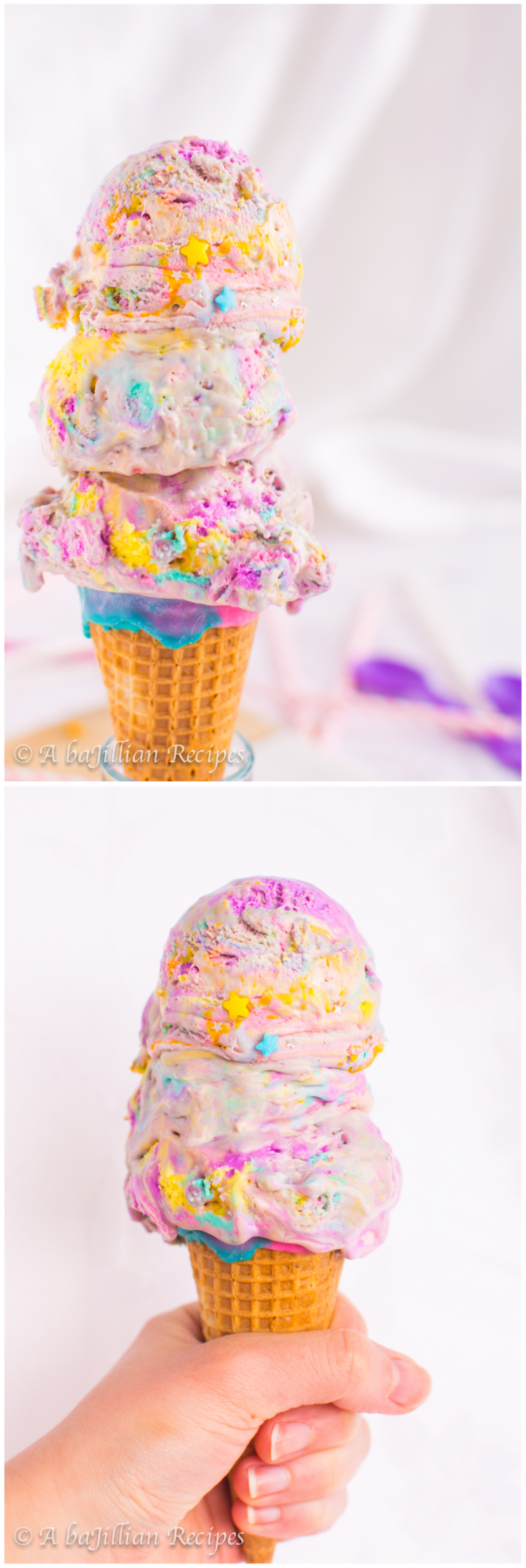 Unicorn Ice Cream | A baJillian Recipes1