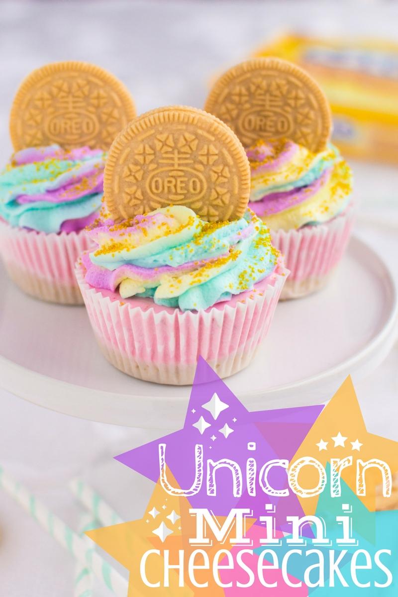 Unicorn Mini Cheesecakes | A baJillian Recipes1
