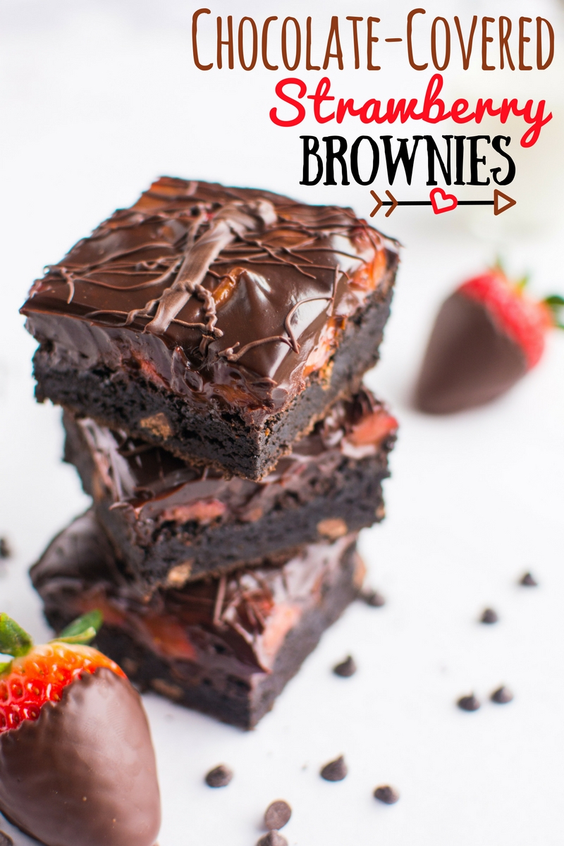 Chocolate-Covered Strawberry Brownies   A baJillian Recipes (title)