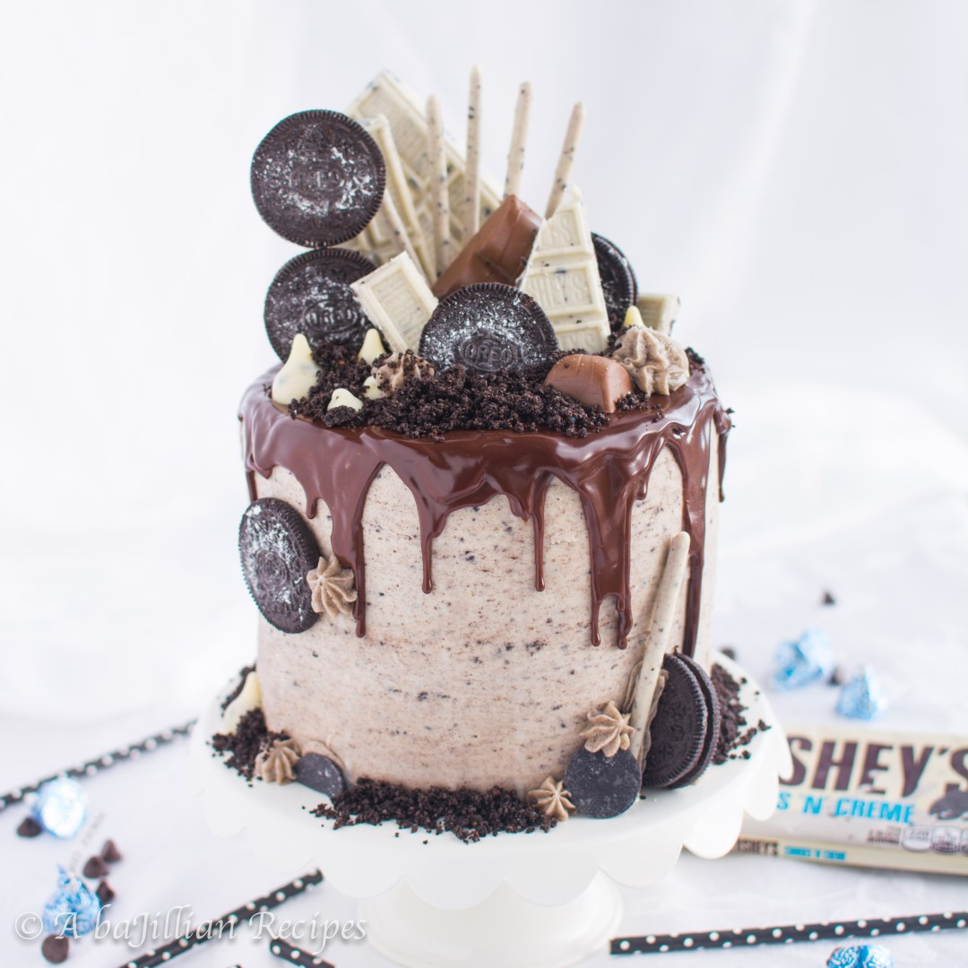 Moist Layers Of Oreo Infused Chocolate Cake Filled With Fluffy Cookies N Creme Mousse