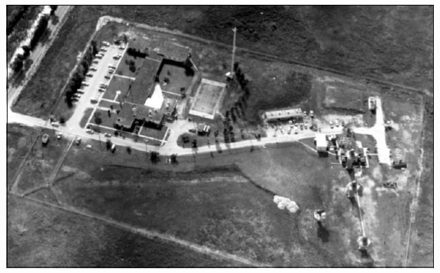 A satellite view of the facility taken during it's operation.