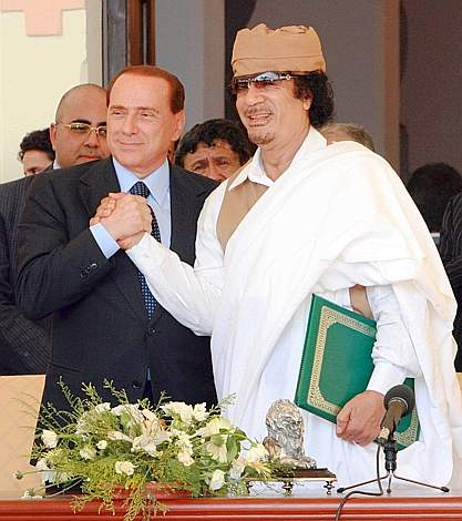 LIBYA-ITALY-KADHAFI-BERLUSCONI