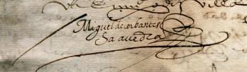 Firma di Cervantes