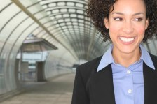 Mid adult businesswoman smiling